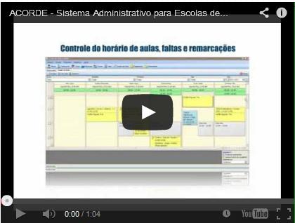 Sistema Administrativo ACORDE – Vídeo Demonstrativo